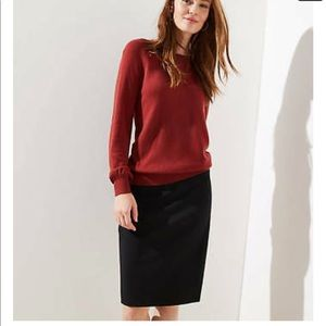 Ann Taylor loft black pencil skirt size 8